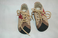 Babybotte Leahter/Suede Lace Up Toddler Shoes Size 20 Made in France