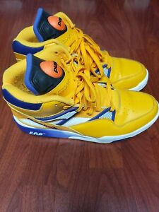 Reebok The Pump Omni Zone ERS Retro Classic The Lakers Gold/Violet/White Size 11