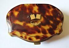 Porte monnaie XIXe en écaille incrustations or intérieur soie ,breveté S.G.D.G