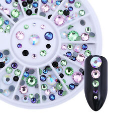Nail Art Flat Back Rhinestone Round Resin Stones 3D Decoration in Wheel Manicure