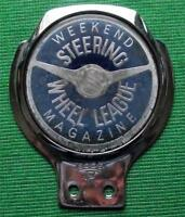 Old Genuine Vintage Car Mascot Badge : Weekend Magazine Steering Wheel Club