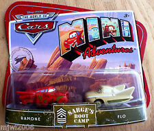 Disney PIXAR World of Cars MINI ADVENTURES Sarge's Boot Camp RAMONE & FLO