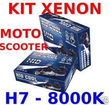 KIT FARI XENON PROFESSIONALI H7 8000K PER MOTO SCOOTER  HID MOTO
