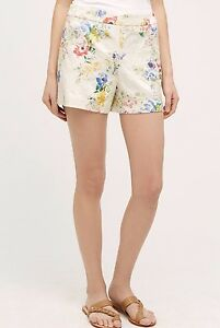 NEW Anthropologie Catalonia Floral Shorts Size 8