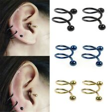 Stainless Steel Spiral Helix Ear Stud Lip Nose Ring Body  Piercing Jewelry NEU~~