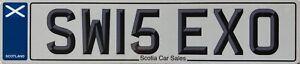 Scottish Flag Saltire UK Number License Licence Scotland Number Plate SW15 EXO