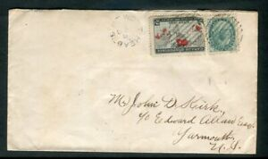 1899 West Head NS Split Ring Cancel Scarce on Map Cover McGraw Transit Backstamp