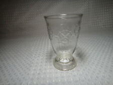 Vintage Nautical Juice Glass Jelly Jar Helm Ship Steering Wheel Pattern