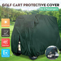 220x109x152cm Golf Buggy Cart Cover 2 Passenger Waterproof Dust-proof UV Protect