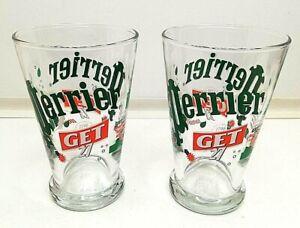 RARE/VINTAGE PERRIER WATER  GLASSES X2