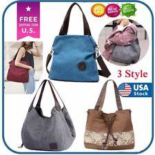Women Canvas Bags Shoulder Tote Messenger Satchel Bag Cross Body Casual Handbag