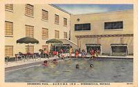 Winnemucca Nevada~Sonoma Inn Swimming Pool~Bathing Beauties~1948 Linen Postcard