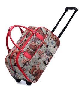 Ladies Girls New Cute Bears Hand Luggage Travel Weekend Bag Cabin Holdall Disney
