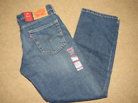 NEW NWT Levis 514 straight denim blue jeans - mens 32-34 x 30-31