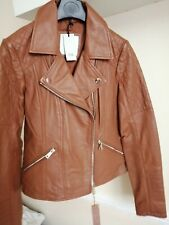 River Island Brown Real Leather Jacket Size 6
