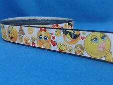 1 metre length of Emoji design Cake/Hair/craft ribbon @ MrsMario's