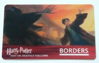 Borders HARRY POTTER Gift Card - Lenticular / 3D - Deathly Hallows - No Value