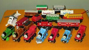 Wooden Thomas the Train 20 pc lot Yoplait Tanker, Winter Caboose, Rheneas, Duke