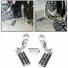 """1-1/4"""" Highway Motorcycle Foot Pegs Pedals Crash Bar For Harley Davidson Chrome"""