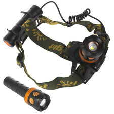 800LM CREE XPE LED Adjust Focus Rechargeable Headlamp Head Torch & Flashlight