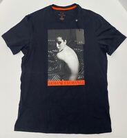 ARMANI EXCHANGE Women's T-Shirt Short Sleeves Crew Neck Black Size M NEW #37C