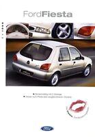 Ford Fiesta Prospekt 1999 I/99 4/99 Autoprospekt brochure prospectus brosjyre