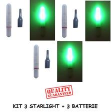 3 starlight led elettronici galleggianti 4.5mm pesca luce galleggianti batteria