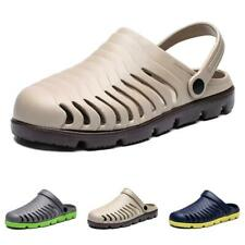 Mens Summer Slippers Sandals Shoes Closed Toe Outdoor Beach Sports Non-slip New