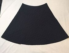 Women's GAP Size 2 100% Cotton Black Skirt Floral Pattern