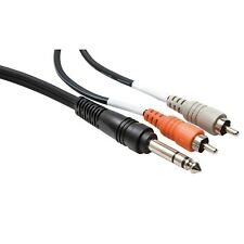 Hosa Technology TRS-204 1/4 inch TRS to Dual RCA Insert Cable, 13.1 feet