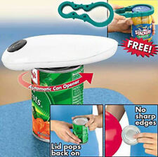 One Touch Cordless Automatic Can Opener with Free Grip Mate Jar Lid Opener !