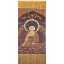 Bamboo Door Curtain Brown Buddha