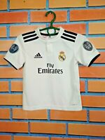 Real Madrid Jersey 2018 2019 Home Kids Boys 4-5 y Shirt Football Soccer Adidas