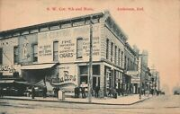 Postcard S.W. Corner 9th and Main in Anderson, Indiana~127620