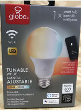 Globe Electric 34211 A19 E26 Medium Smart WiFi LED Bulb 10W (60W Equivalent).