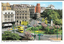 The Square & Town Centre, Bournemouth Postcard, 1964 Bmth PMK Trolleybuses etc