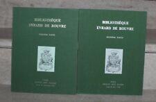 catalogue vente drouot 1979-80 en 2 vol bibliothèque evrard de rouvre