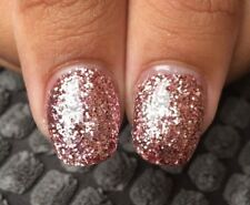 NSI attraction glitter acrylic powder pre-mixed pot rose gold, silver, red white