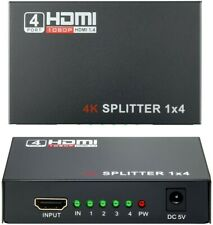 HDMI Switch 1x4, Wrcibo Splitter HDMI Compatible con 3D, 1 Entrada 4 Salidas,...