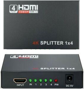 HDMI Switch 1x4, Wrcibo Splitter HDMI Compatible con 3D, 1 Entrada 4 Salidas,...