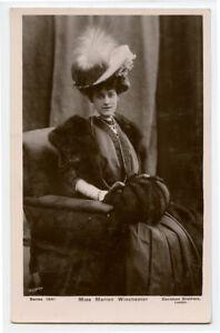 c 1907 British Edwardian Theater MARION WINCHESTER Lady Fashion photo postcard