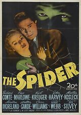 The Spider (Film Noir '45) Richard Conte, Faye Marlowe, Ann Savage.