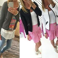 Women Lady Short Coats Jacket Cardigan Outwear Blouse Business Slim Blazer Suit