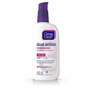 Clean & Clear DUAL ACTION Moisturizer Salicylic Acid Acne Medication (11/22)