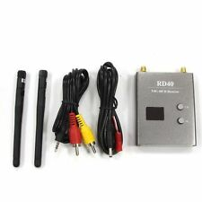 RC FPV SkyZone 5.8GHz 40CH RD40 Diversity Receiver with Display A/V Power Cables