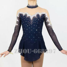 competition ice figure skating dress child and women ice skating dress navy
