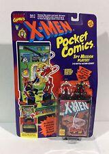 1994 TOY BIZ Marvel Pocket Comics X-MEN Spy Mission Playset WOLVERINE & OMEGA