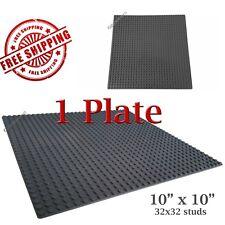 For LEGO, 1 Dark Grey 10x10-inch 32x32-stud Brick Building Base Plate