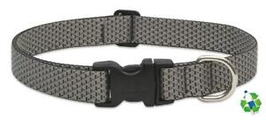 "NEW Granite Gray Dog Collar or Leash in 1/2"", 3/4"" & 1"" by Lupine Eco (Recycled)"