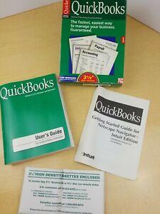 VTG Original Quickbooks Version 4.0 Windows 95 Software 3 1/2.